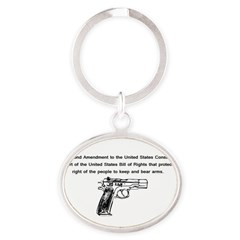 The Second Amendment Oval Keychain