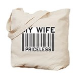 My Wife Priceless Barcode Tote Bag