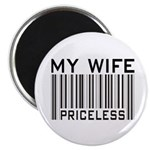 """My Wife Priceless Barcode 2.25"""" Magnet (10 pack)"""