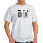 My Wife Priceless Barcode Ash Grey T-Shirt
