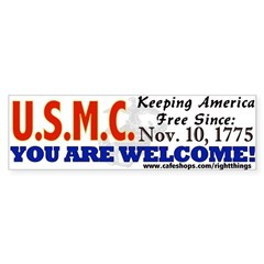 US Marine Corps Sticker (Bumper)