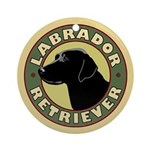 Black Lab Crest - Fan Pull or Ornament
