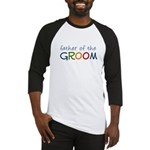 Father of the Groom Rainbow Baseball Jersey