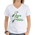 Future Frog Women's V-Neck T-Shirt