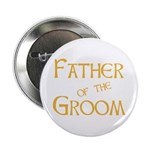 "Sherbet Father of the Groom 2.25"" Button"