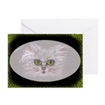 Green-eyed Cat Greeting Cards (10 Pk)