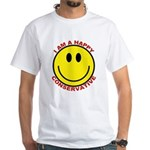 Happy Conservative White T-Shirt