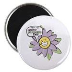 "Happy Mother's Day Purple Flower 2.25"" Magnet (10"