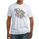 Happy Mother's Day Purple Flower Fitted T-Shirt