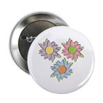 Pretty Mother's Day Cartoon Flowers Button