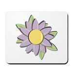 Purple Cartoon Flower Spring Mousepad