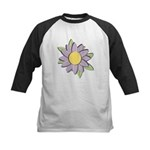 Purple Cartoon Flower Spring Kids Baseball Jersey