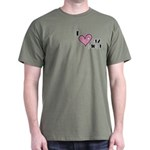 I Love Heart My Mom Mother's Day Dark T-Shirt