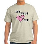 My Kids Love Heart Me Mom Teacher Light T-Shirt