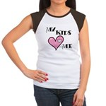 My Kids Love Heart Me Mom Teacher Women's Cap Slee
