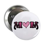 Tattoo Mom Pink Heart Mother's Button