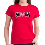 Tattoo Mom Pink Heart Mother's Women's Dark T-Shir