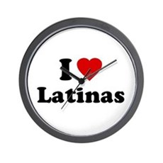 I Love [Heart] Latinas Wall Clock