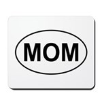 Mom European Oval Mother's Day Mousepad