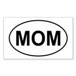 Mom European Oval Mother's Day Sticker (Rectangula