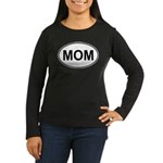 Mom European Oval Mother's Day Women's Long Sleeve