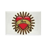 Red Heart Tattoo Mom Mother Rectangle Magnet (100