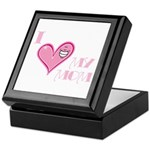 I Love Heart My Mom Mother's Pink Keepsake Box