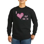 I Love Heart My Mom Mother's Pink Long Sleeve Dark