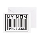 My Mom Priceless Barcode Greeting Cards (Package o