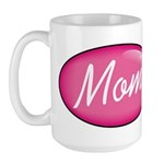 Pink Mom is my Idol Logo Large Mug