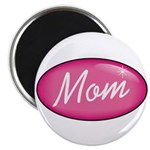 "Pink Mom is my Idol Logo 2.25"" Magnet (10 pack)"
