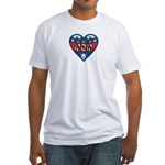 Heart Wonder Mom Mother's Fitted T-Shirt