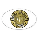 Mom University Honors Graduate Oval Sticker