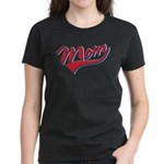 Baseball Style Swoosh Mom Women's Dark T-Shirt