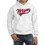 Baseball Style Swoosh Mom Hooded Sweatshirt