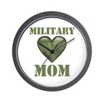 Military Mom Camouflage Camo Heart Wall Clock