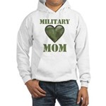 Military Mom Camouflage Camo Heart Hooded Sweatshi