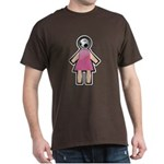Pink Soccer Mom Cute Girl Art Dark T-Shirt