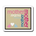 Mother Plaque with Hearts Mother's Mousepad