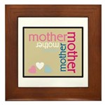 Mother Plaque with Hearts Mother's Framed Tile