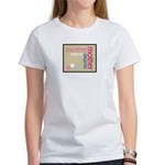 Mother Plaque with Hearts Mother's Women's T-Shirt
