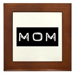 Dymo Black Label Me Mom Mother Framed Tile