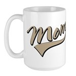 Baseball Swoosh Mom Mother's Large Mug