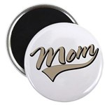 "Baseball Swoosh Mom Mother's 2.25"" Magnet (10 pack"