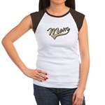 Baseball Swoosh Mom Mother's Women's Cap Sleeve T-