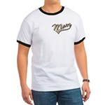 Baseball Swoosh Mom Mother's Ringer T