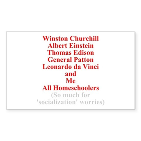 Famous Homeschoolers Sticker (Rectangular)