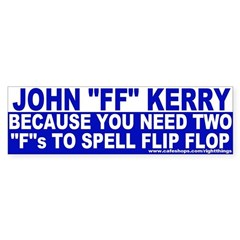"John ""Flip Flop"" Kerry Sticker (Bumper)"