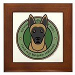 Love My Malinois Framed Tile