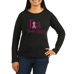 Fuck Breast Cancer Women's Long Sleeve Dark T-Shir